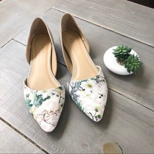 Chinese Laundry Floral Pointed Toe Flats